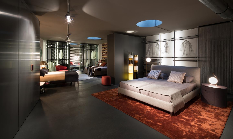 Schlafzimmerblick – in das L3-Separée. Kollektionen rund um gesunden und guten Schlaf.